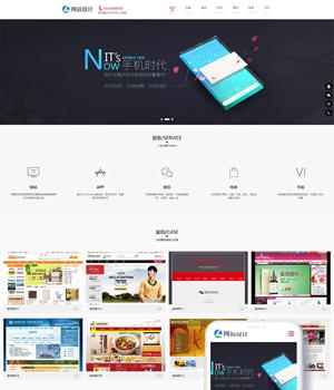响应式网站建设小程序开发类网站模板